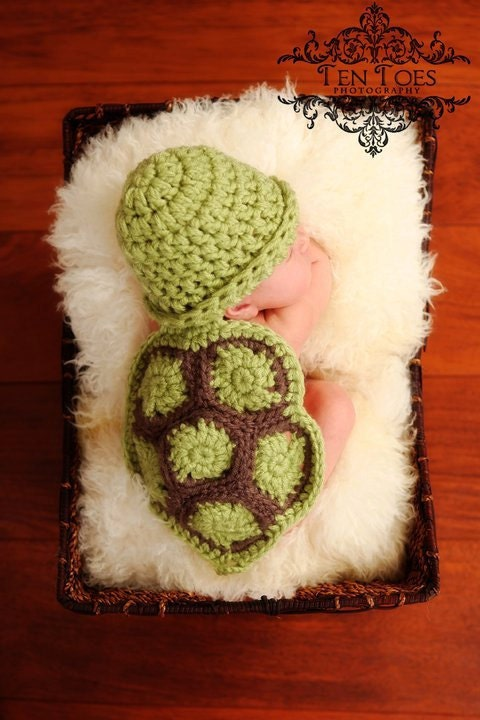 Hatchling Turtle- Cuddle Critter Cape Set  - Newborn Photography Prop