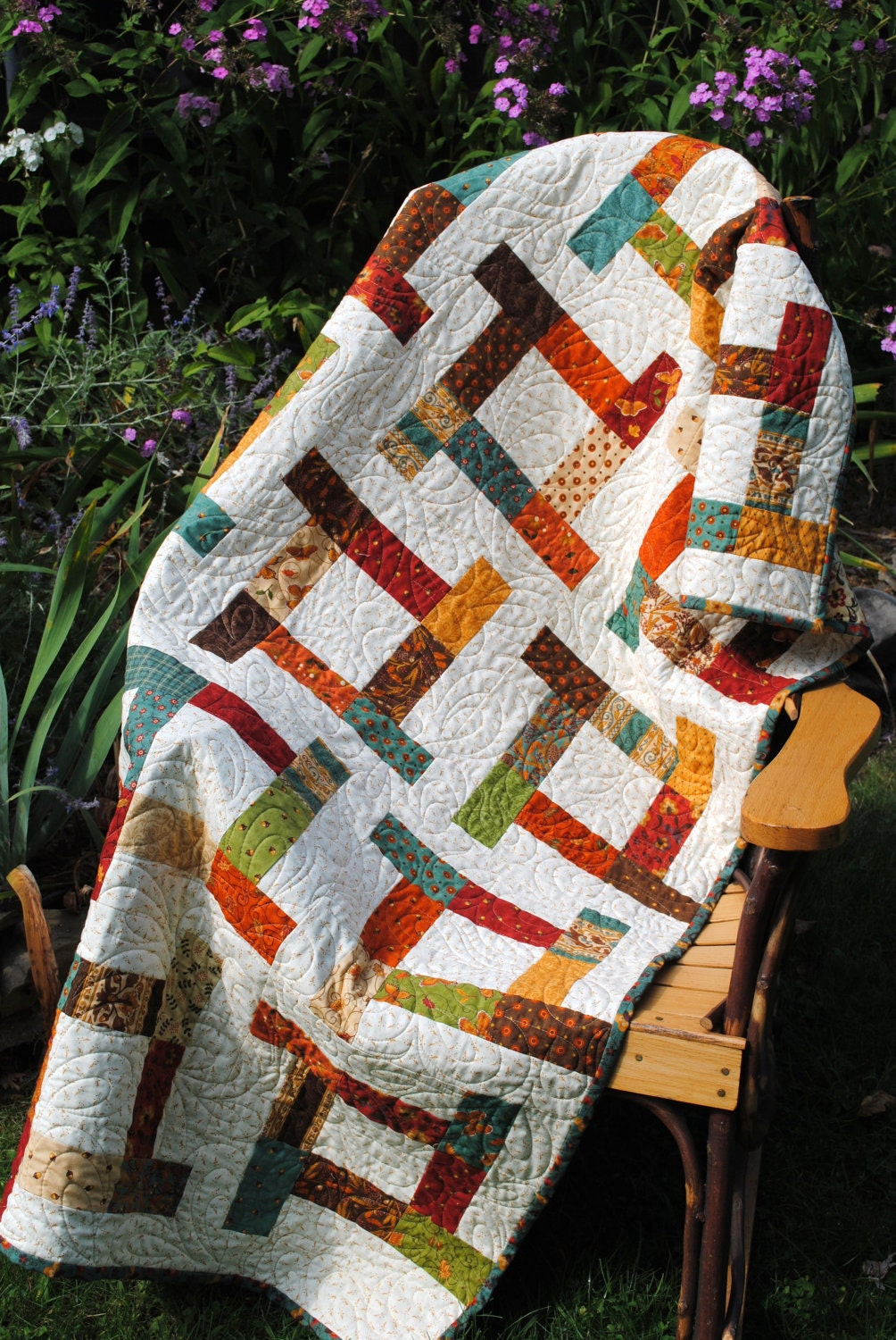 Easy Quilt Patterns With Layer Cakes : easy QUILT PATTERN, baby or lap, layer cake, fat quarter or Scrap quilt pattern
