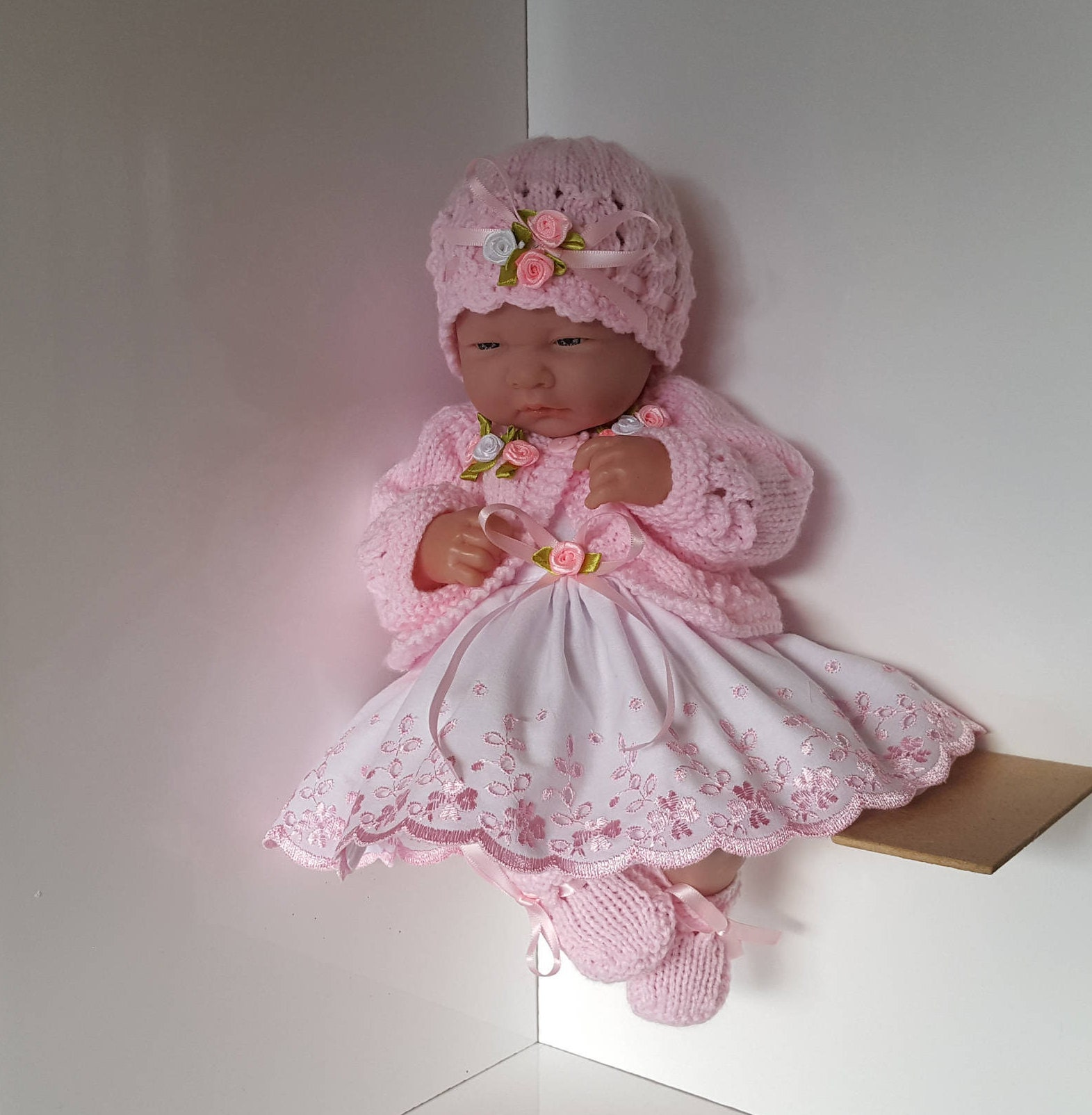 Handmade Baby Dolls Clothes Ensemble for 14 inch dolls  BERENGUER  CUPCAKE La Newborn  Reborn or similar