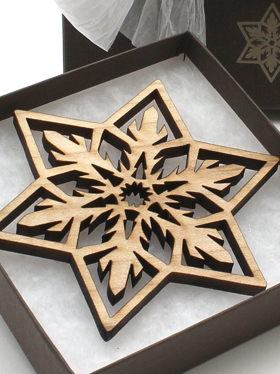 Items Similar To Wood Christmas Ornament Laser Cut