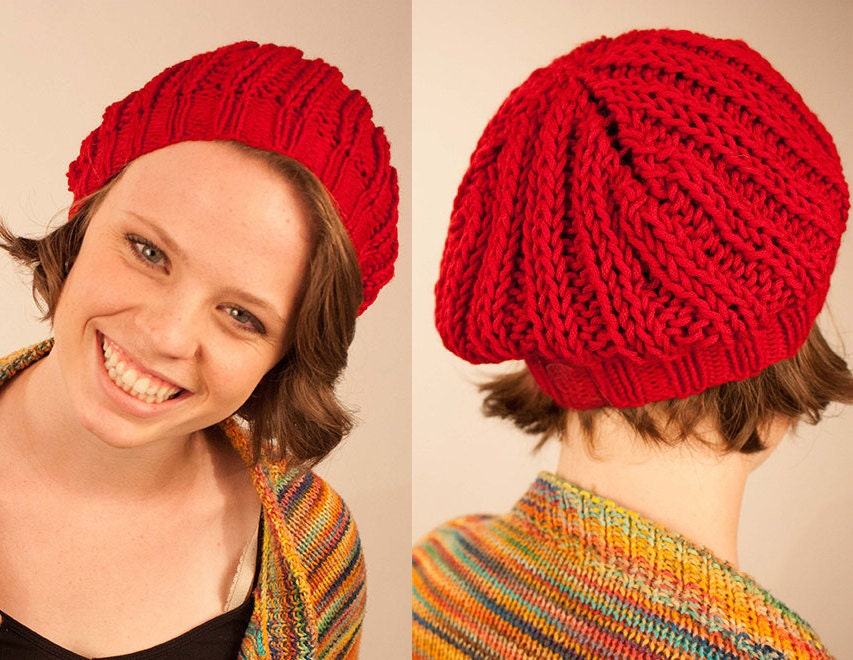 Slouchy Toque Knitting Pattern : KNITTING PATTERN Quick and Easy Slouchy Beanie by ShopCheni