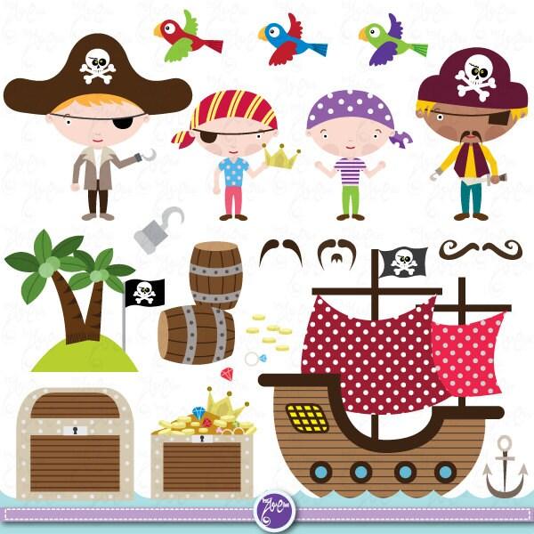 Pirate Clipart Clip Art Set cute pirate, pirate clip art for perfect ...: www.etsy.com/listing/128414880/pirate-clipart-clip-art-set-cute-pirate