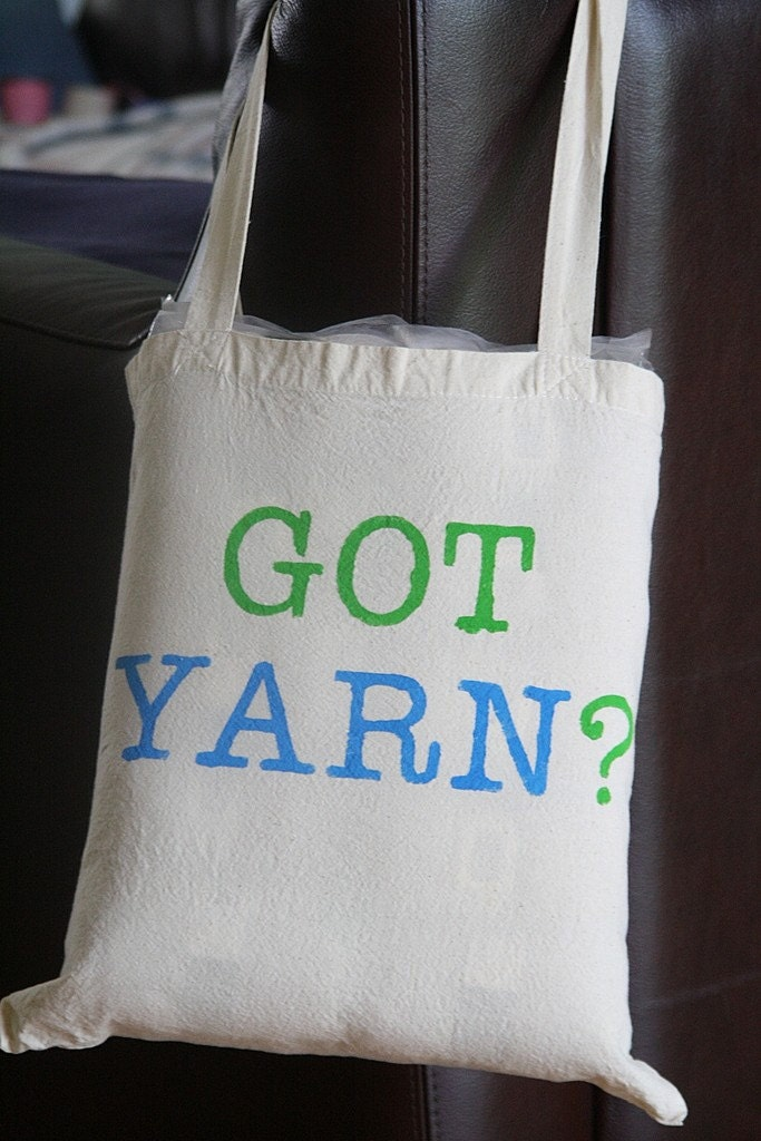 Got Yarn Knit or Crochet Project Tote Bag