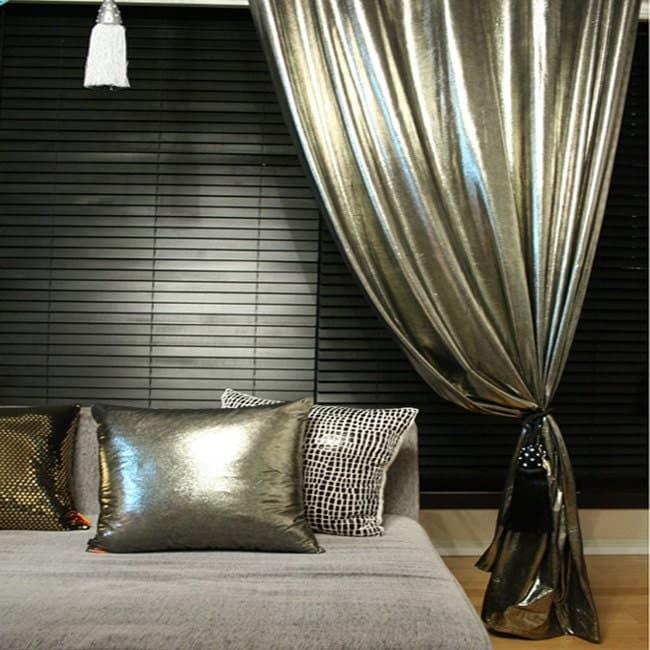 Metallic curtains