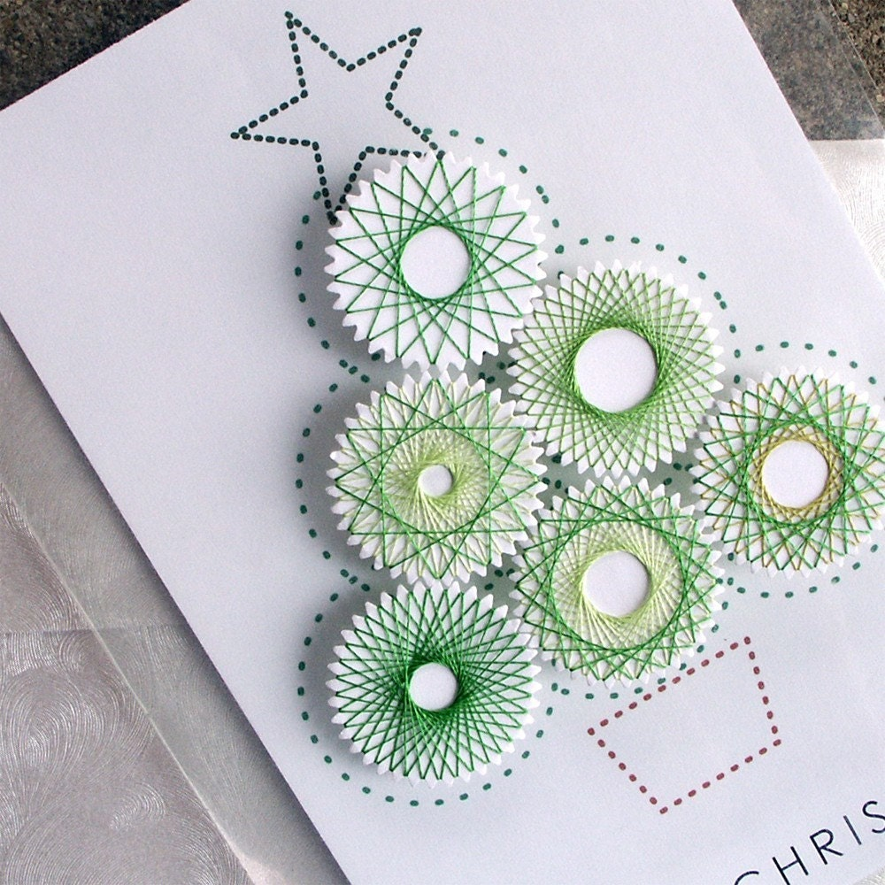 Set of 3 - Transparent Christmas Card