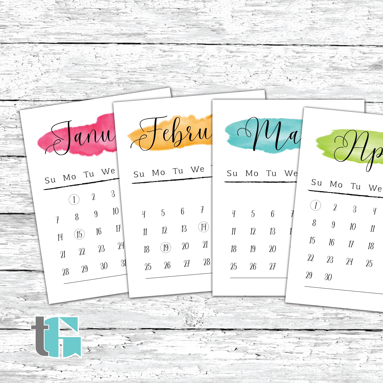 Calligraphy calendar | Etsy