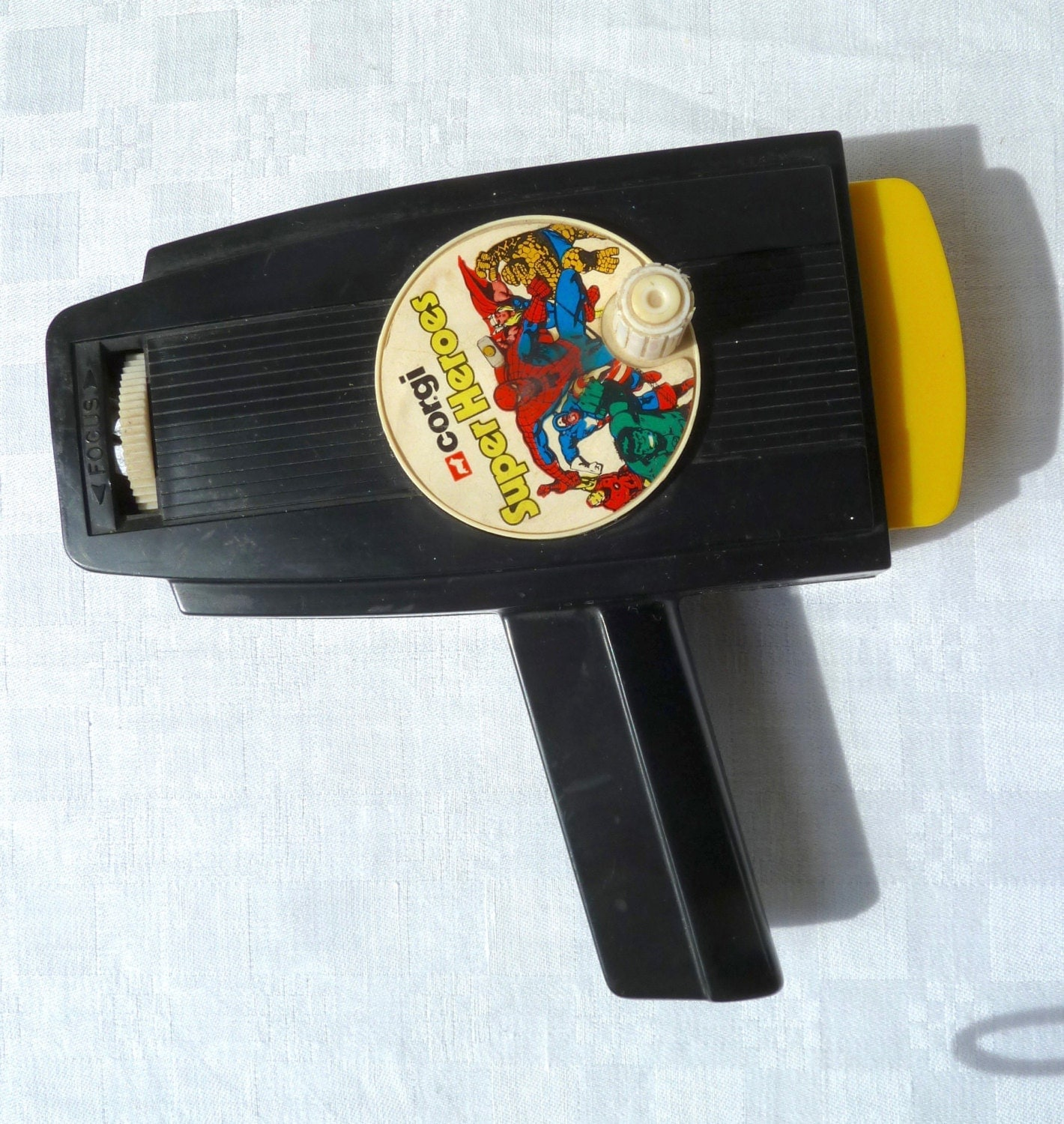 Rare 1970s Corgi Super Heroes Handheld Toy Film Projector With Spiderman Super 8 Film Cassett, Made In Great Britian, Perfect Working Order