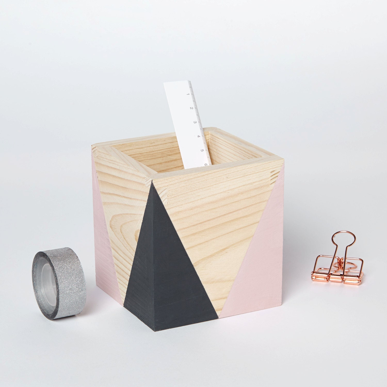 Wooden storage pot (various colours)   Home office   Desk tidy  Desk organiser  Home Decor  Planter  Plant pot  Hand painted pen pot