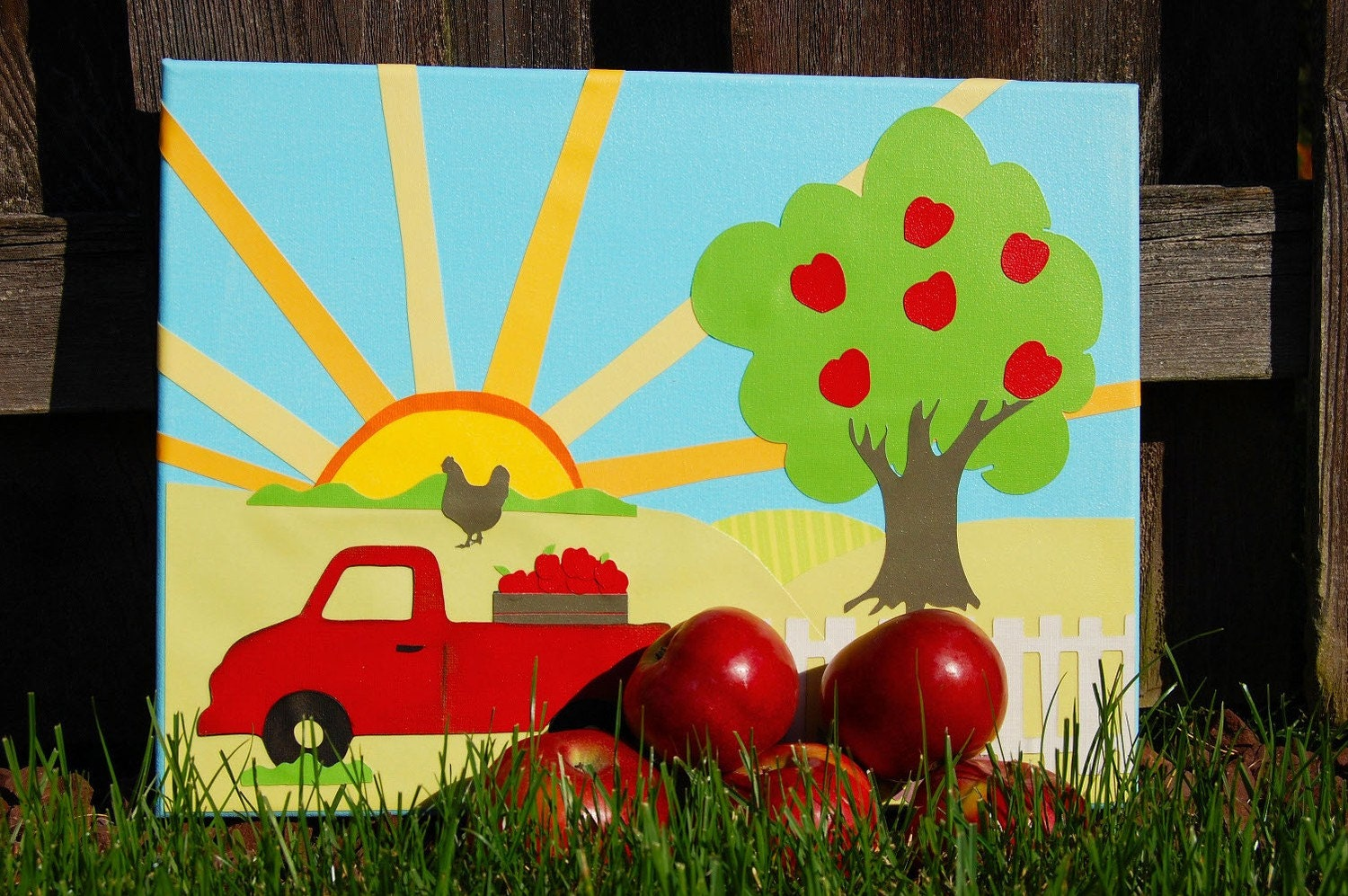 Imaginary Wall Art for Children - Apple Orchard -  Rise and Shine