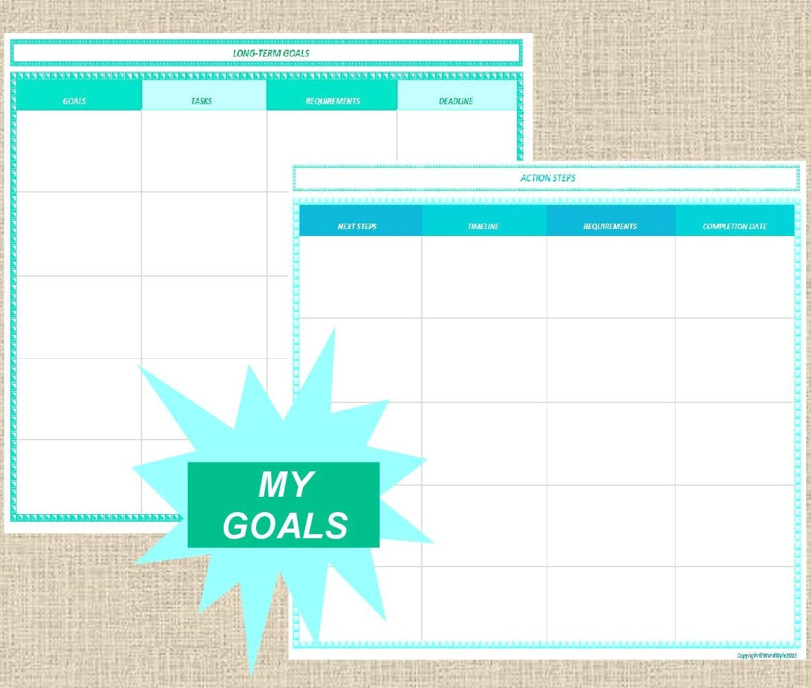 long term goals paper
