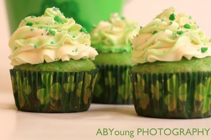 Lucky Lime Cupcakes