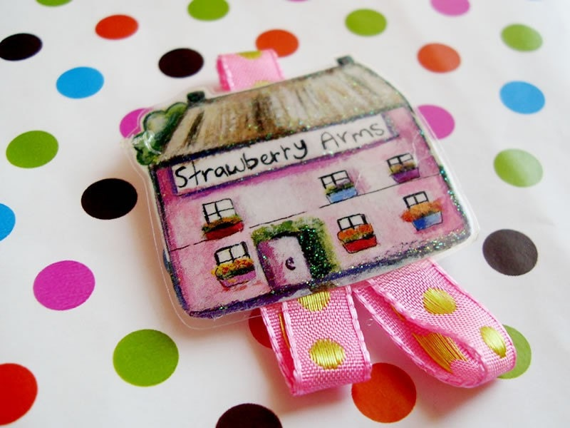 Pink house. Pin