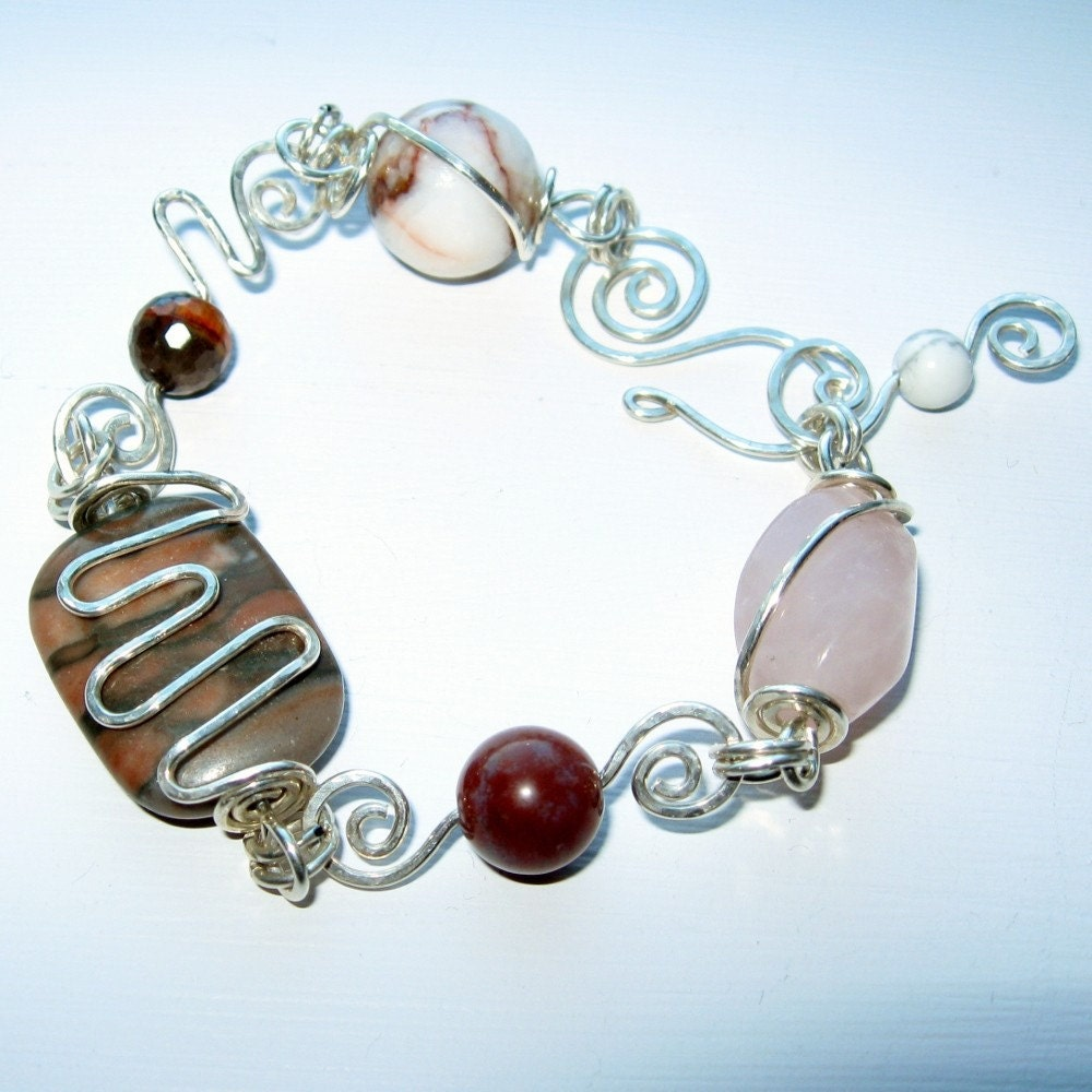 Desert Sand Sterling Silver Wirework Bracelet