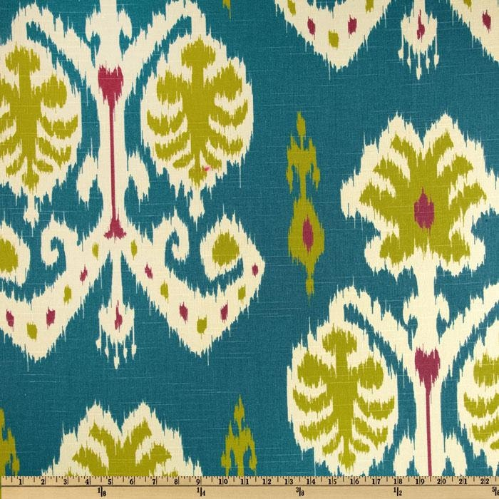 Ikat Curtains Home Accents Caftan Ikat Peacock Blue By Kohinoor