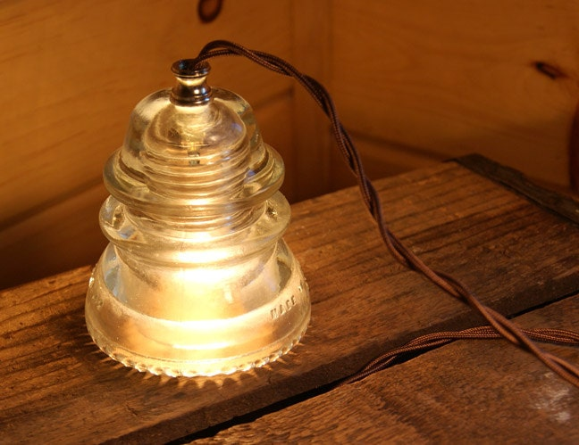 Nostalgic Antique Insulator Pendant Light Clear By