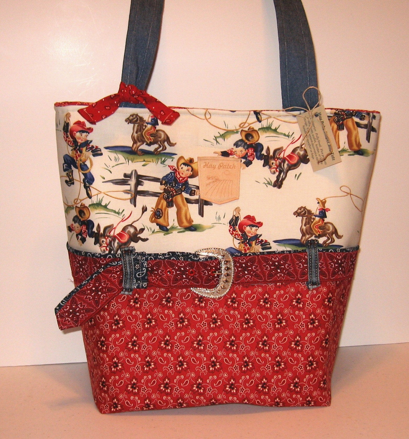 Cowboy Diaper Bags : Cowboy cowgirl western rodeo diaper bag tote by thehaypatch