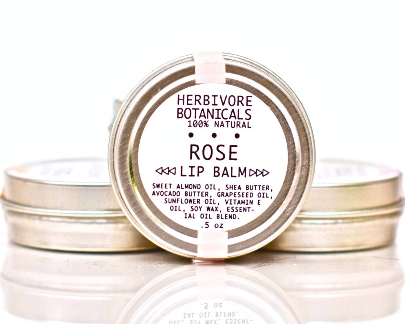 Rose Lip Balm. Shea Butter. 100% Natural. Vegan.
