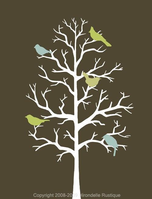 Contemporary Birds - 8x10 Print
