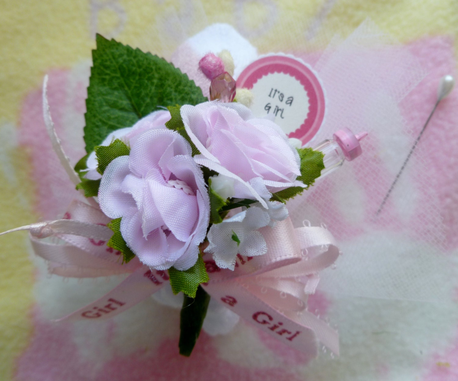 baby shower corsage mom to be corsage baby sock corsage girl