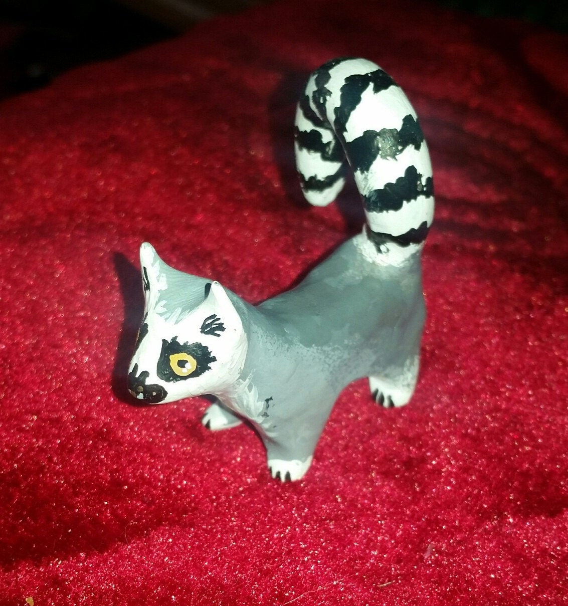 Polymer Clay Totem Talisman Animal Figure Lemur.