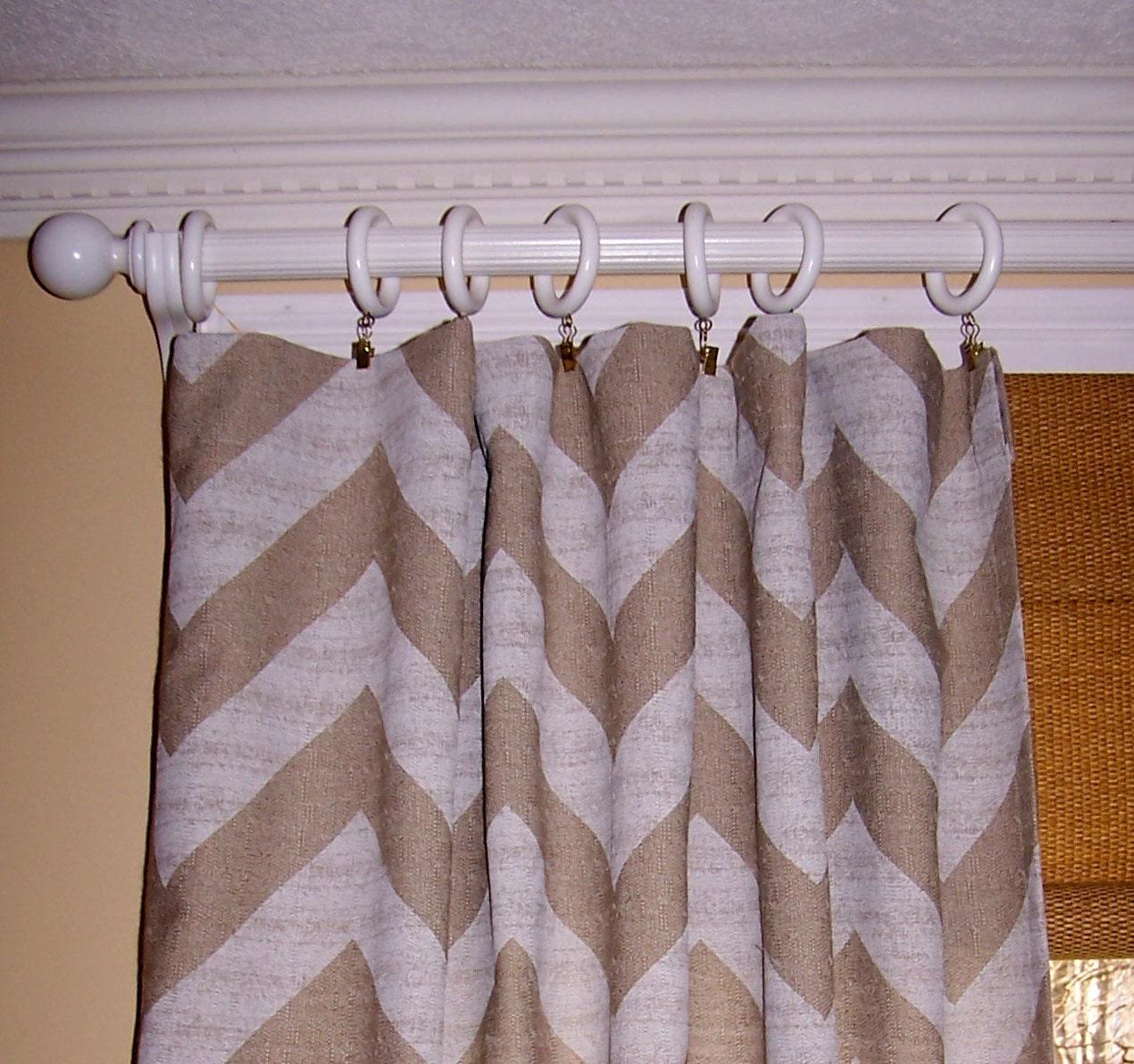 MULTICOLORED CHEVRON CURTAINS Premier Fabric Denton Linen Two Drapery ...