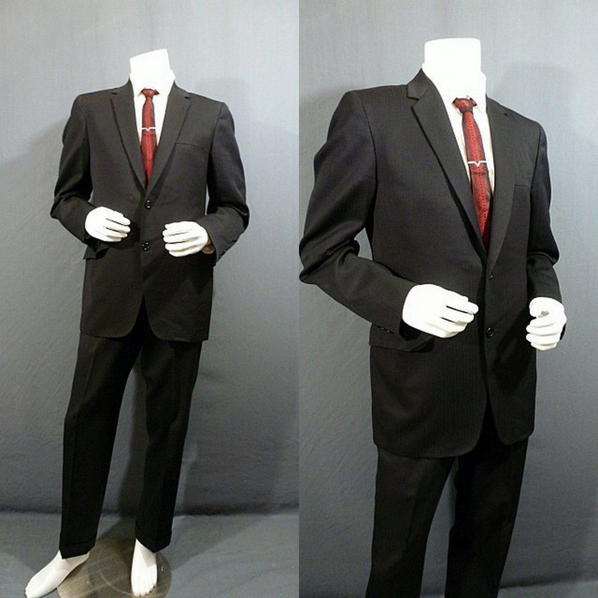SALE Mens Vintage 60s Suit Black Pin Stripe / by ...