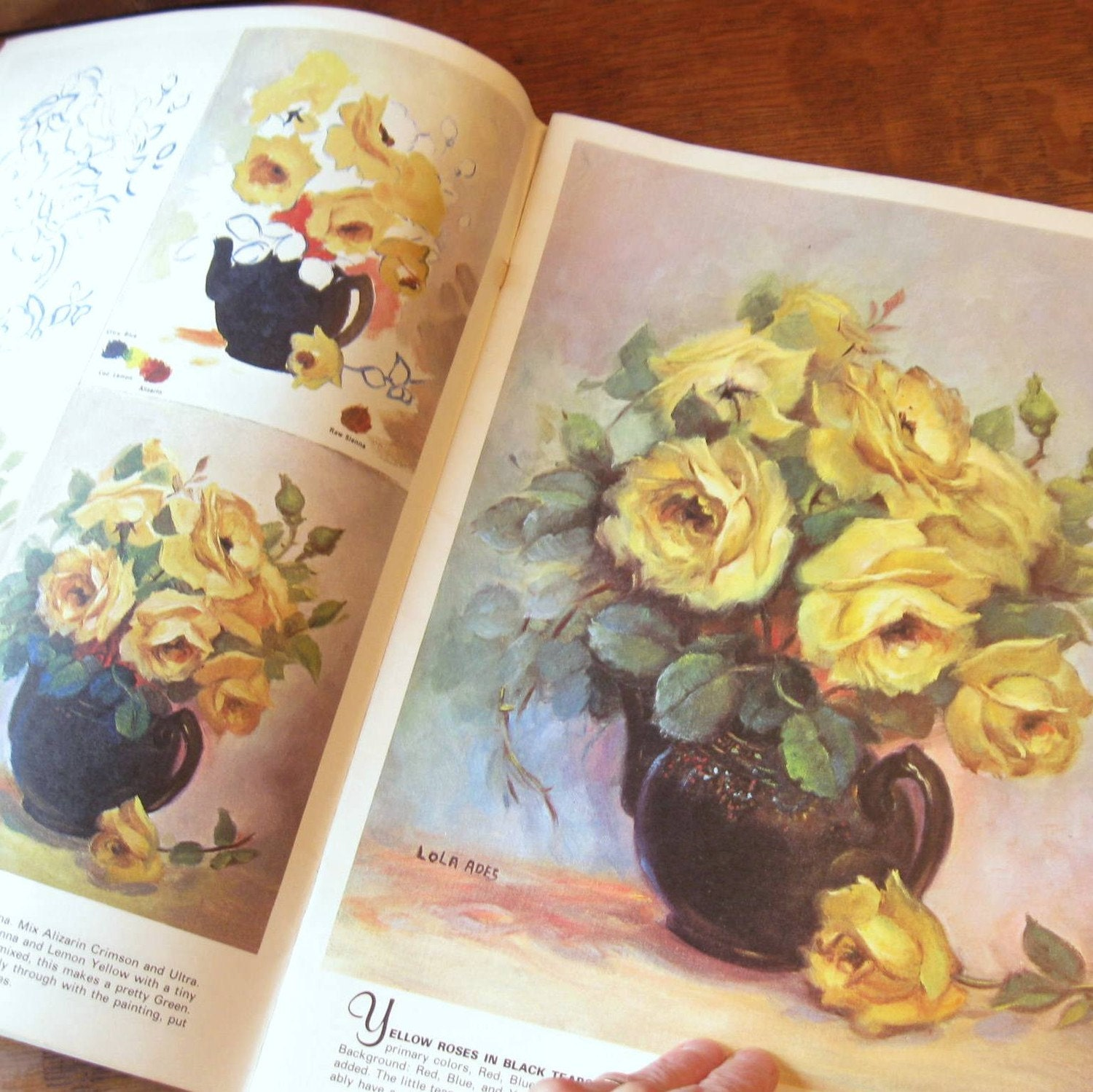 Book on how to paint roses