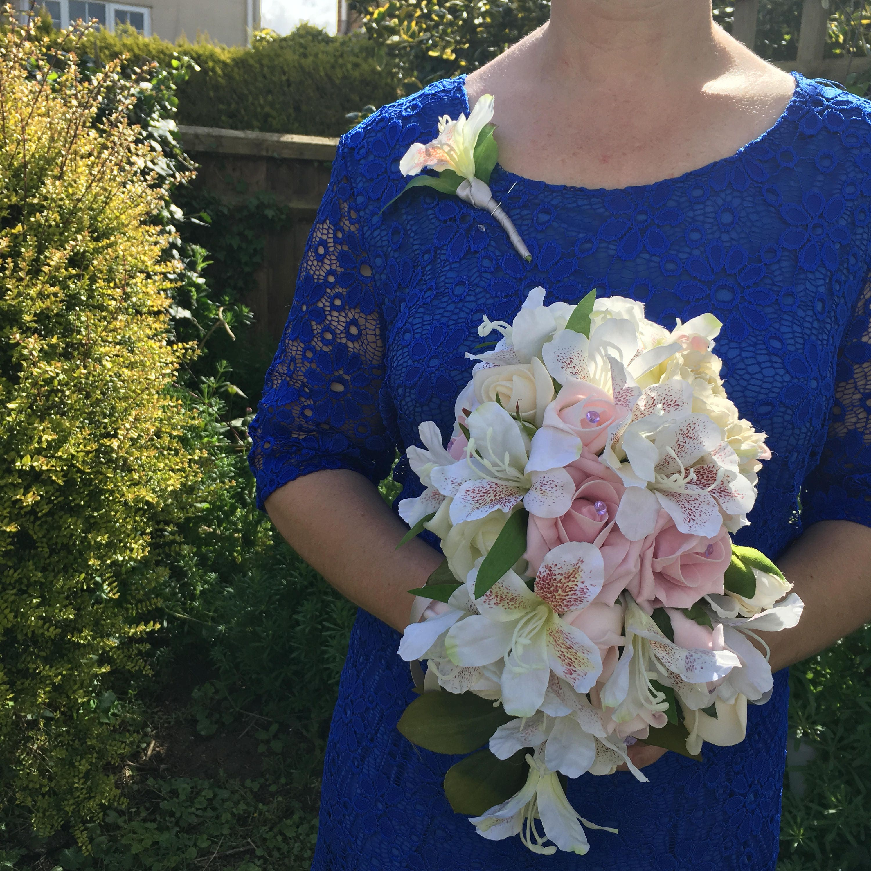 Rose and lily bouquetPink and white bouquetWedding bouquet pink rosesAlstromeria bouquetbridal bouquet pink and whitesoft pink bouquet