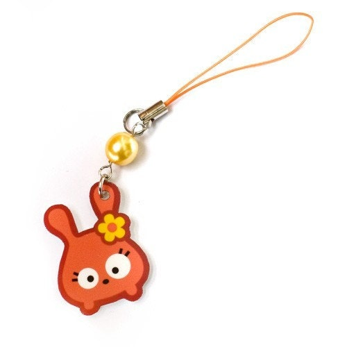 Kawaii Bunny Cell Phone Strap From Fluffles
