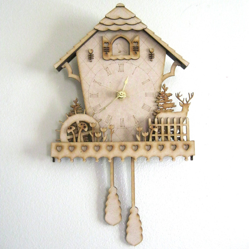 Сделать часы с кукушкой из картона своими