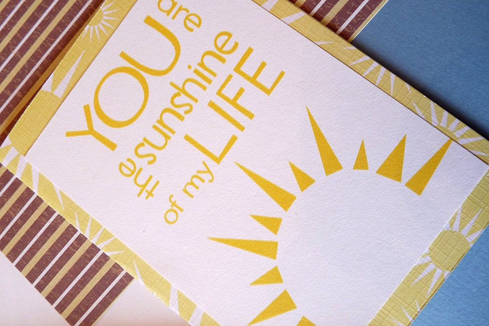 You are the Sunshine of My Life-Greeting Card