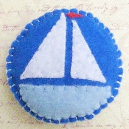 Emery Filled Pincushion  Nautical  Keep Your Needles by NAKPUNAR from etsy.com