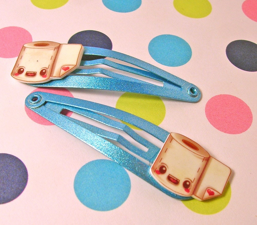 Toilet Paper Hair Clips