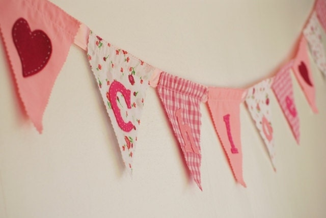 Pink Personalised Baby Bunting