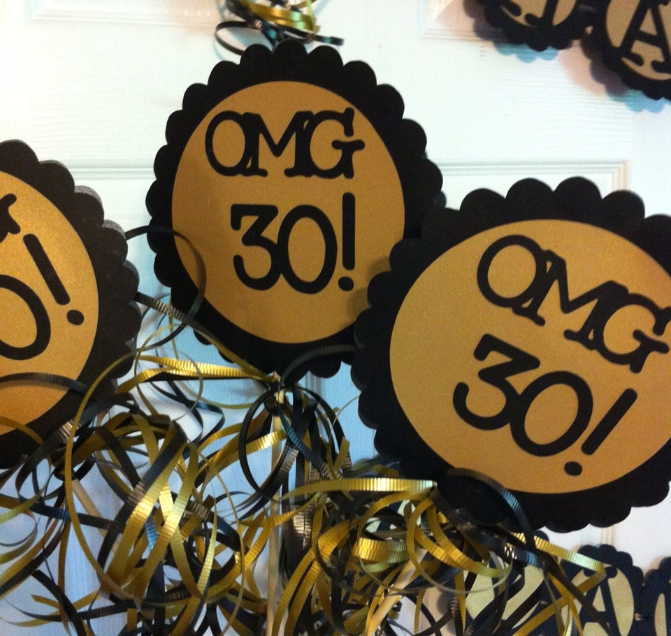 30th birthday decorations centerpiece signs by frombeths for 30 birthday decoration ideas