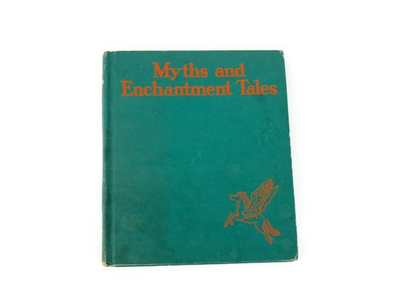 SALE Myths and Enchantment Tales by Margaret Evans Price, Vintage, 1942, Green - vintagetoyshoppe