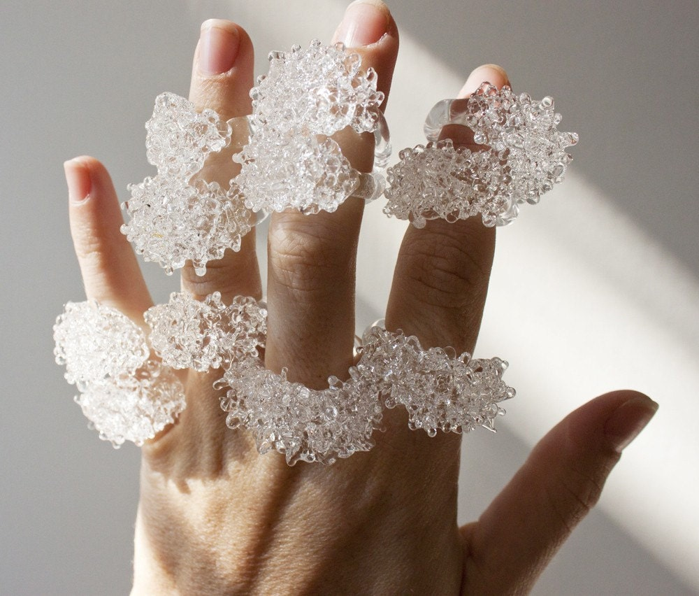 CHOOSE YOUR SIZE - Glass Cluster Ring