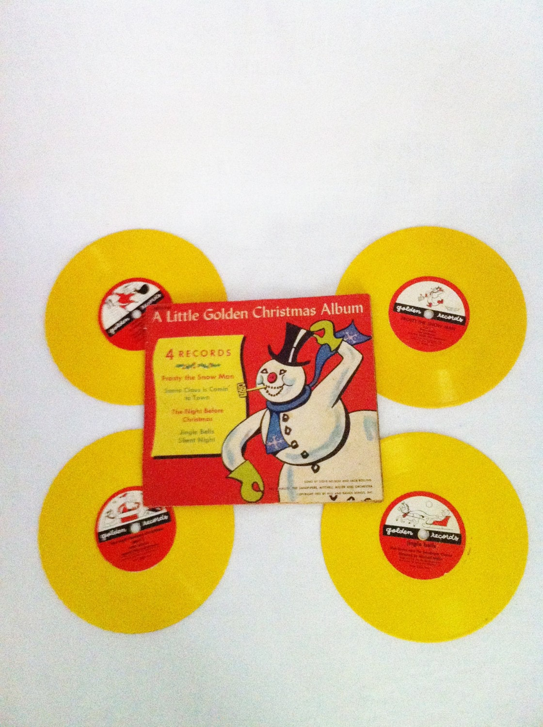 Vintage 78 Rpm 4 Record Set A Little Golden Christmas By