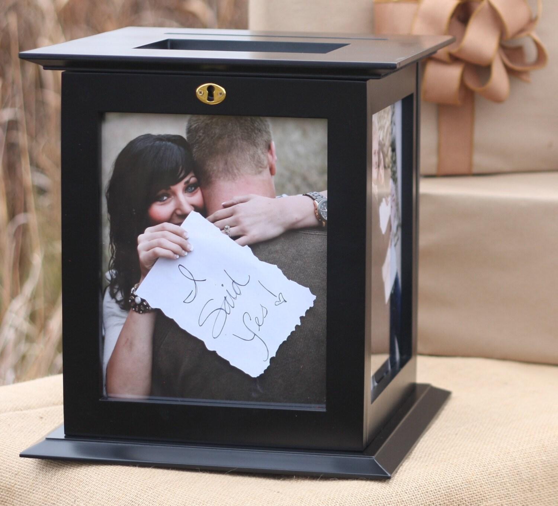 Locking Black Wedding Card Box With NO By KellyMarieCollection