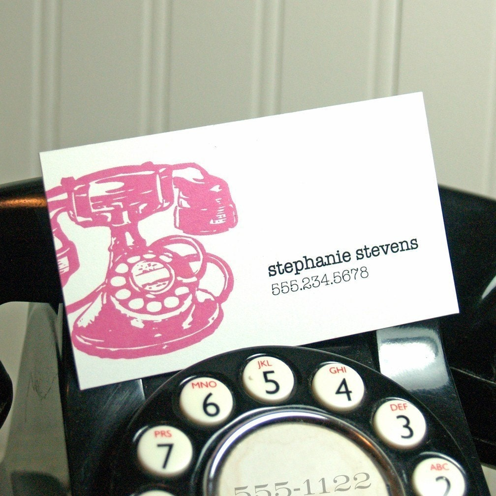 calling cards -vintage telephone (50 cards)