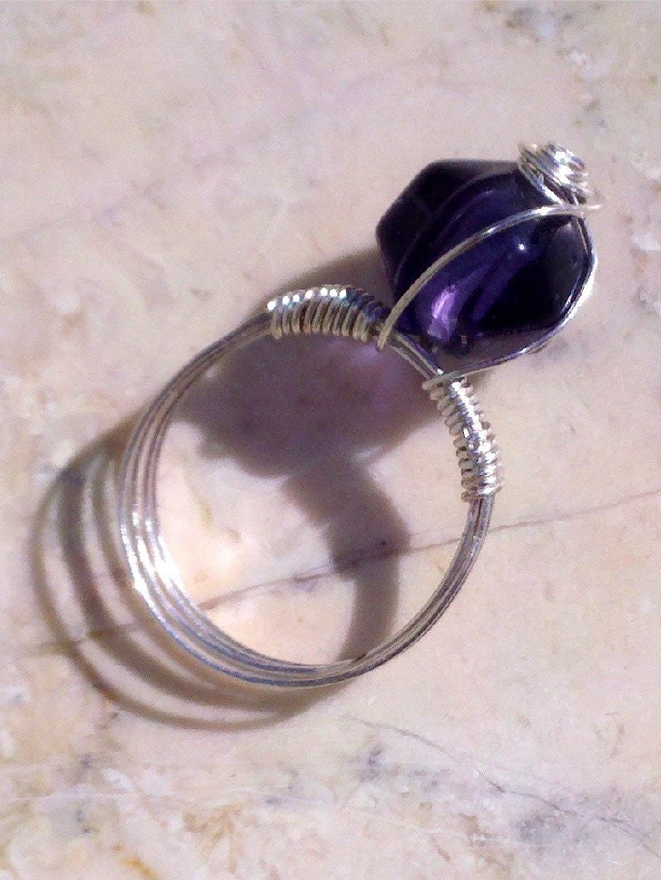 Purple Bling Ring Size 9