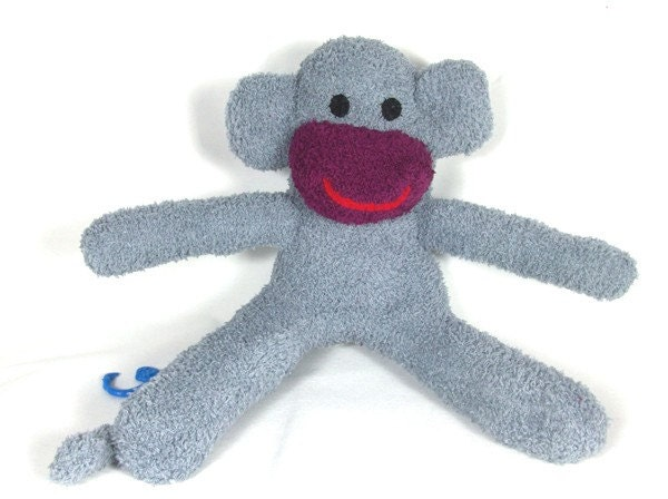 Stuffed animal sock monkey  Ready to ship