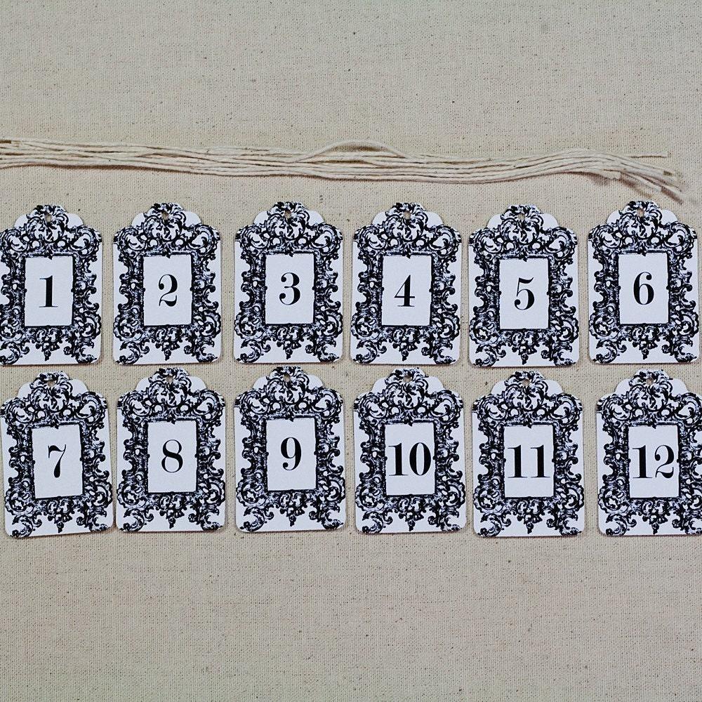 Framed Number Tags