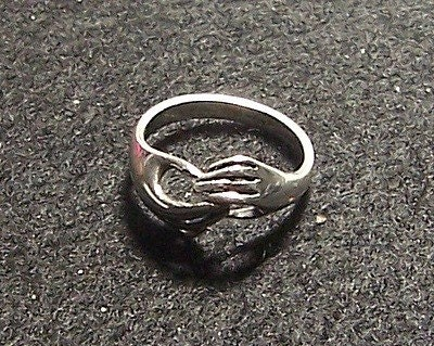 Items similar to James Avery Sterling Retired Hands Ring ...