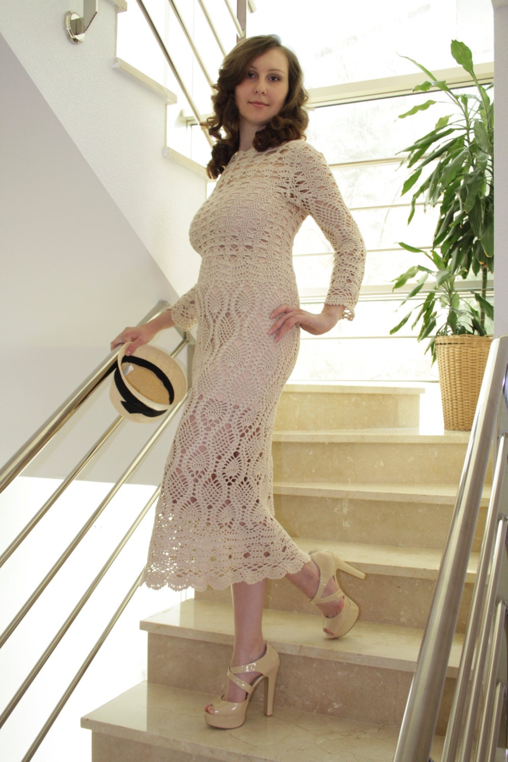 Exclusive crochet dress for a special occasion