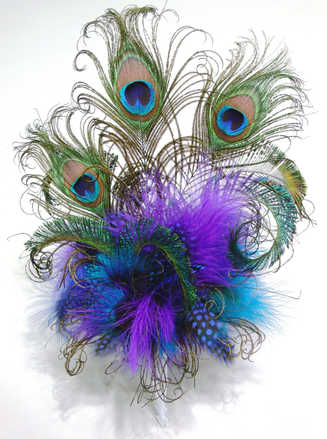 peacock feather cake