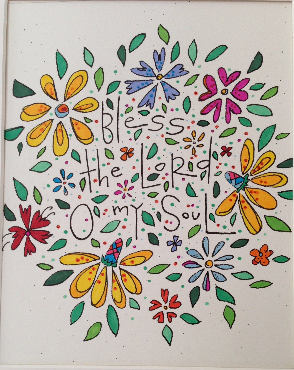 Bless The Lord Oh My Soul By Edenwflora On Etsy