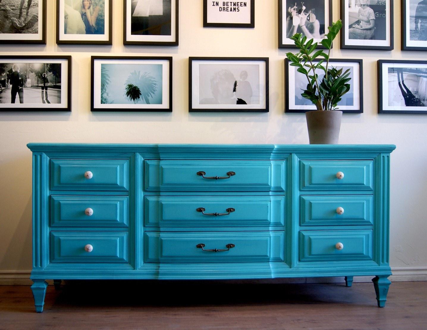 Turquoise dresser/sideboard