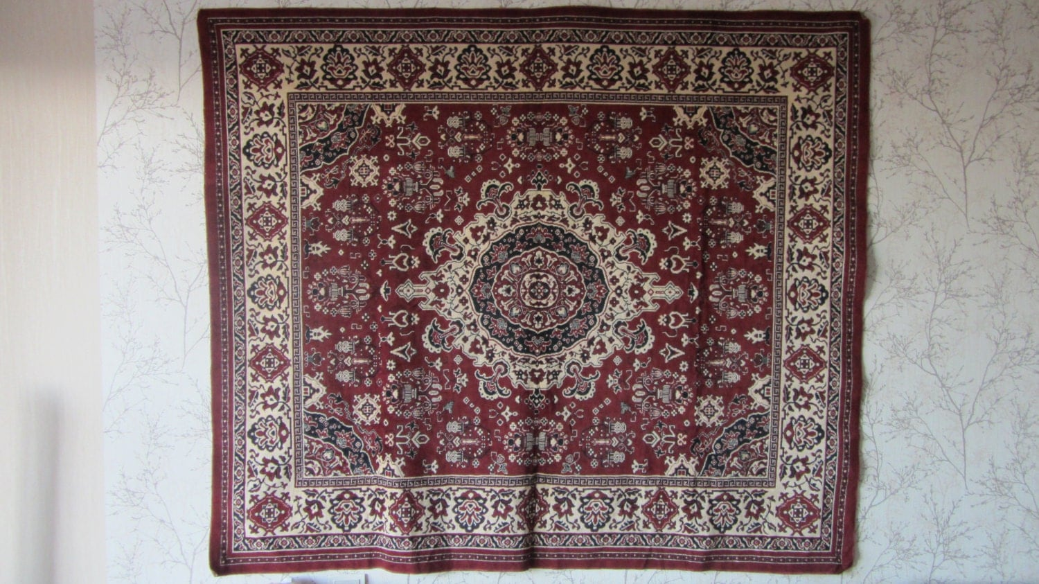 Vintage Original Divandec Carpet from Germany, New mint condition, Home decor Ca