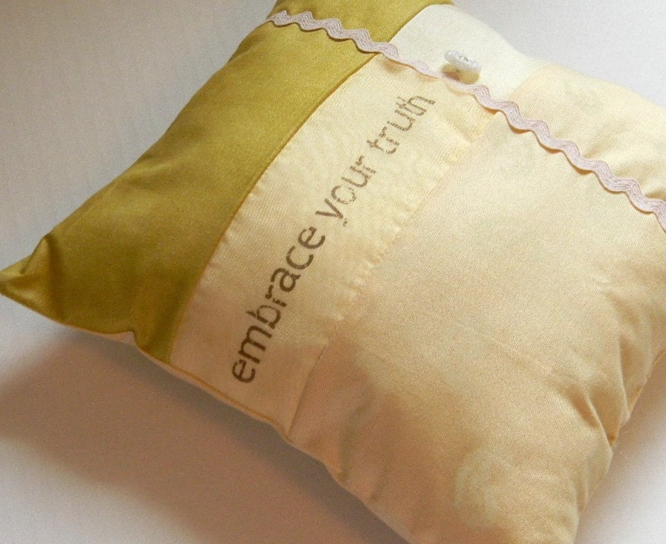 Embrace Your Truth Patchwork Pillow